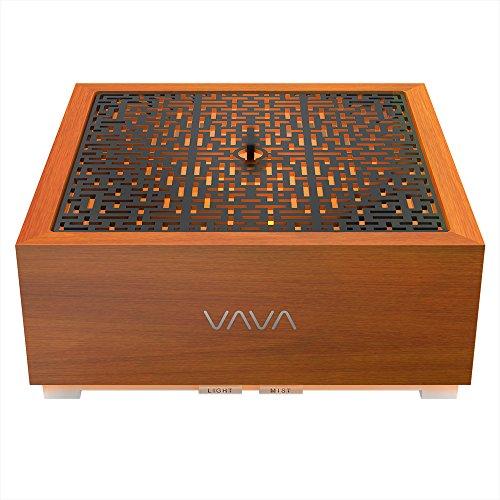 VAVA Diffuseur d'Huiles Essentielles Électrique au Design Zen Japonais en Vrai Chêne Massif 90ML, 5 Couleurs de...