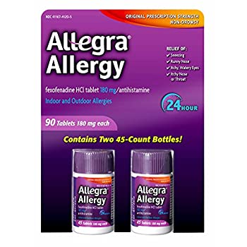 Allegra 180mg Adult 24-Hour Allergy Tablets 90 ct.