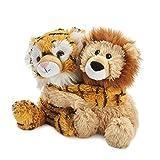 Warmies Hugs Liger Soft Toys - Peluche arancione e marrone, 0,53 kg