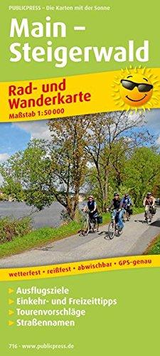 Main - Steigerwald: Rad- und Wanderkarte mit Ausflugszielen, Einkehr- & Freizeittipps, wetterfest, reißfest, abwischbar, GPS-genau. 1:50000 (Rad- und Wanderkarte / RuWK)