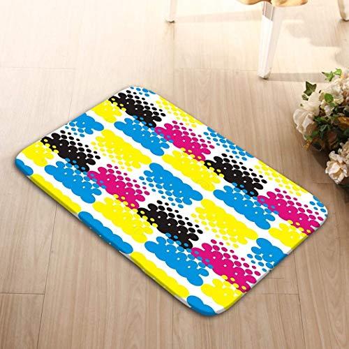 OEWFM Doormat Printed Doormat Anti slip Kitchen Mat Floor Flannel Welcome Mats Front Door Doormat Outdoor-40x60cm