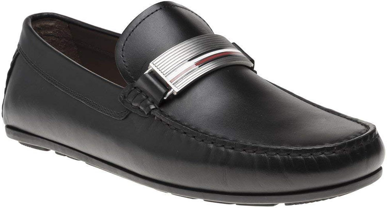 Tommy Hilfiger Hardware Leather Herren Schuhe Schwarz B07H495WK9  | Ich kann es nicht ablegen