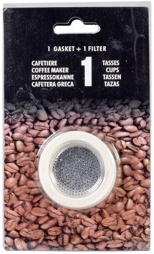 Karl Kruger 512S ekspres do kawy 1 filtr i 3 pierścienie uszczelniające, 1 kubek, aluminium czarny
