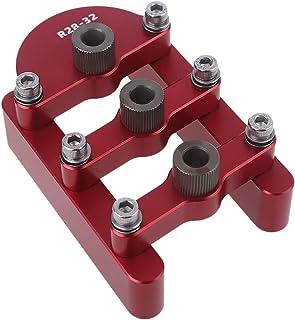 TOORUNE Punch Positioner Self Centering Woodworking Jigsaw 3-in-1 Self-adaptive Punching Positioner Doweling Jig Kit Dowel...
