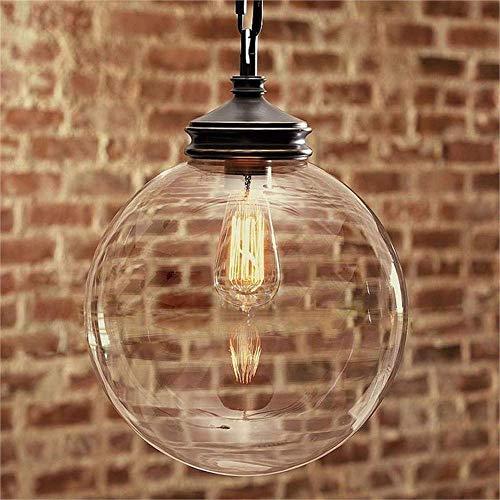 XXYHYQHJD Restaurante Bar Retro lámpara de E27 Edison Arte Iluminación Decorativa Colgante de luz (Size : 250mm)