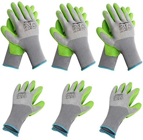 WORKPRO 6 Pairs Garden Gloves Work Glove with Eco Latex Palm Coated Working Gloves for Weeding product image