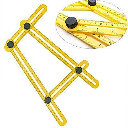 SHOP-STORY - Règle d'Angle Pliable Multifonction de Mesure Multi Angles pour Découpe et Bricolage Facile Neuf