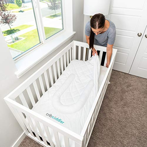 Great Deal! Crib Cuddler | Classic Edition | Newborn Sleep Positioner | Lounger | Mattress Pad (Whit...