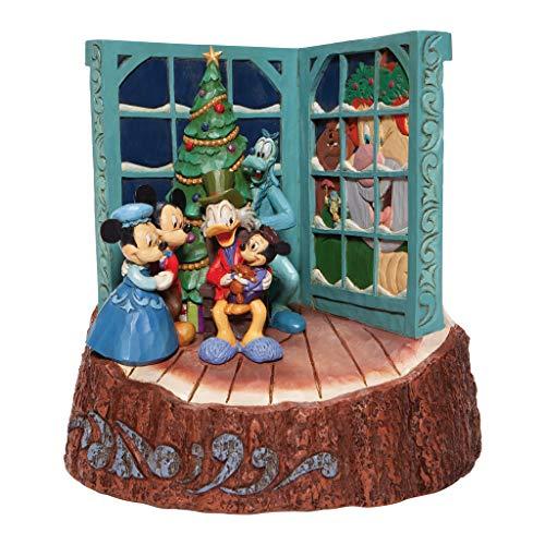 Enesco Jim Shore Disney Traditions Mickey's Christmas Carol Scrooge McDuck Figurine, 8 Inch, Multicolor