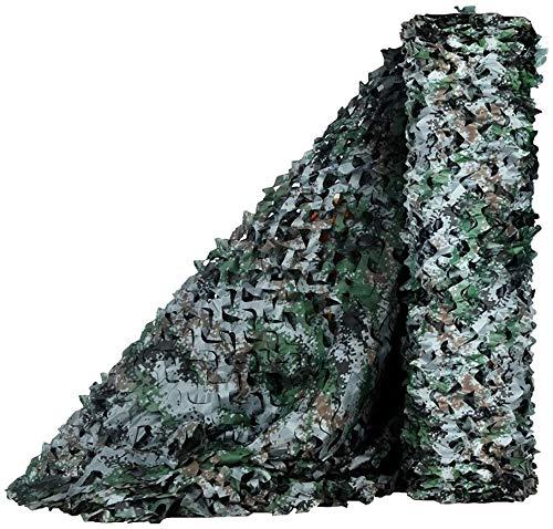 JAJ Malla de camuflaje, malla militar, ligera, duradera, ideal para parasol, camping, tiro, caza, etc., camuflaje digital, 1,5 x 2 m