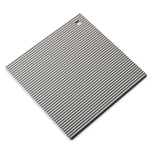 Zeal Coque en Silicone résistant à la Chaleur Dessous de Plat, antidérapant, Silicone, Gris, 22 cm