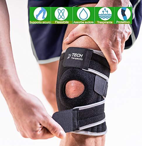 TECH THERAPEUTICS Kniebandage Orthopädische Knieschiene Für Intensiven Sport |Stützen Stabilisieren Und Kräftigen Sie Ihre Knie |Medizinische Qualität | Knee Support Knee Brace Bandage Knie