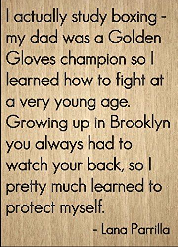 'I realmente estudio de boxeo–Mi papá es un...