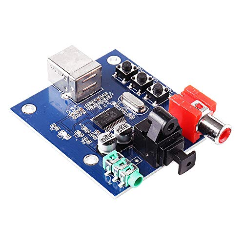 Módulo electrónico Fibra Coaxial sonido de alta fidelidad tarjeta decodificadora (C6B4) 3pcs PCM2704USB Tarjeta de sonido DAC decodificador entrada USB Equipo electrónico de alta precisión