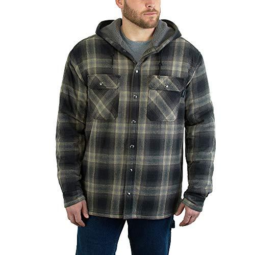 WOLVERINE Men's Byron Shirt Jacket, Onyx Plaid, X-Large