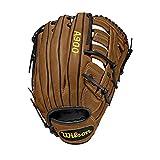 Wilson A900, WTA09LB20125 Guante de béisbol, tamaño 12.5 ', para zurdos = guante para diestros, cuero, marrón