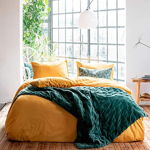 Walra Renforce Bettwäsche Soft Structure ockergelb 1 Bettbezug 135x200 cm + 1 Kissenbezug 80x80 cm