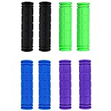 Coolayoung Pack of 4 Handlebar Grips, 4.7inch / 12cm Rubber Hand bar End Grip for MTB BMX Road Mountain Bike Bicycle Scooter