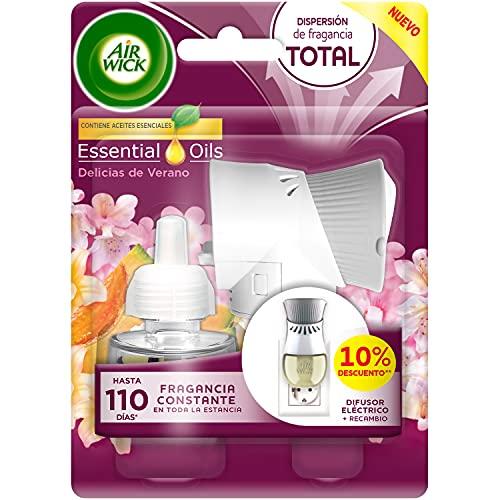 Air Wick Eléctrico - Recambios de ambientador automático eléctrico, esencia para casa con aroma a Delicias de Verano - Aparato y recambio
