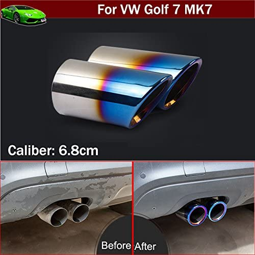 2pcs New Car Max Manufacturer OFFicial shop 87% OFF Chrome Stainless Steel Pipe Ti Exhaust Tail Muffler