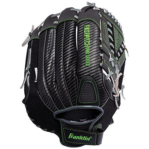 Franklin Sports Fastpitch Softball Glove - Fastpitch Pro - Adult and Youth Softball Mitt - Infield and Outfield - Right Handed Glove - Lime 13