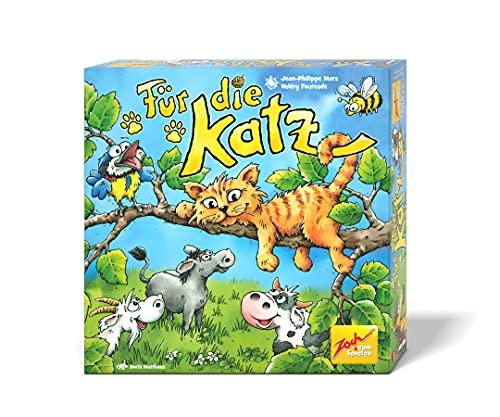 Zoch 601105158 Für die Katz – das lustige Teamwork-Geschicklichkeitsspiel mit verbundenen Augen, 2 bis 5 Spieler, für Kinder ab 4 Jahren