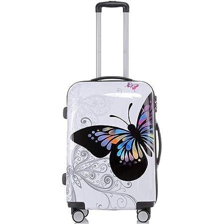 Valise De Cabine Bagage /à Main Ultralight En Polycarbonate Flexible Semi-Transparent R/êve Papillon 55cm Gloria Kaos