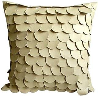 Fait main Beige Oreillers Accent, Mermaid Conception Texture Couverture D'Oreillers, 40x40 cm Jeter Les Taies D'Oreiller, ...