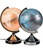 Out of the blue 31CM ILLUMINATING WORLD GLOBE 4 WAY TOUCH LAMP
