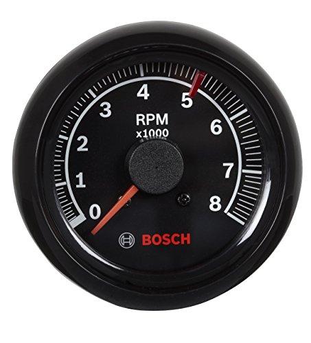 "Actron SP0F000025 Bosch Sport II 2-5/8"" Tachometer (Black Dial Face, Black Bezel)"
