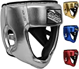 RDX Niño Cascos Boxeo para Sparring, MMA Entrenamiento | Junior Metallic Cuero Casco Protector | Bueno para Kids Kickboxing, Artes Marciales, Muay Thai, kárate y Combate Training