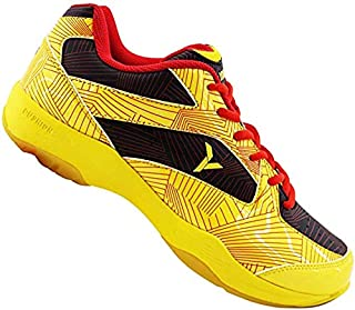 Young FUTURE01 Professional Badminton Court Shoes Non-Marking Rubber Outsole Yellow