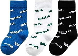 Bocotoer, 3 pares de calcetines térmicos para niñas y niños con elástico suave