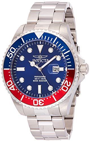 Invicta Relógio masculino de quartzo Pro Diver 47 mm de aço inoxidável, prata (modelo: 22823)