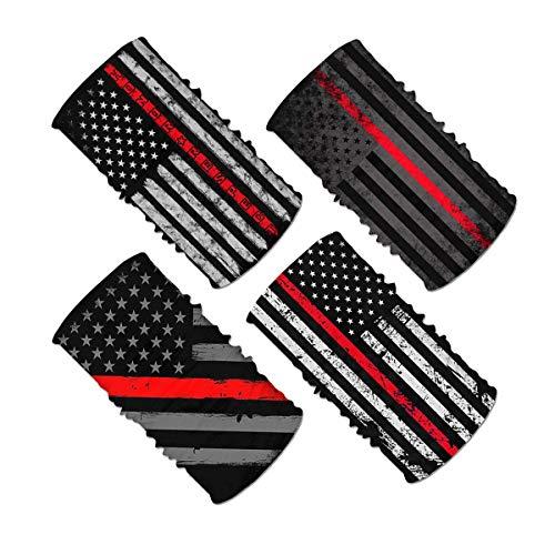 4pcs Thin Red Line Flag Firefighter Face Scarf Magic Tube Bandana Headwear Neck Gaiter Tube Scarf Headbands Balaclava