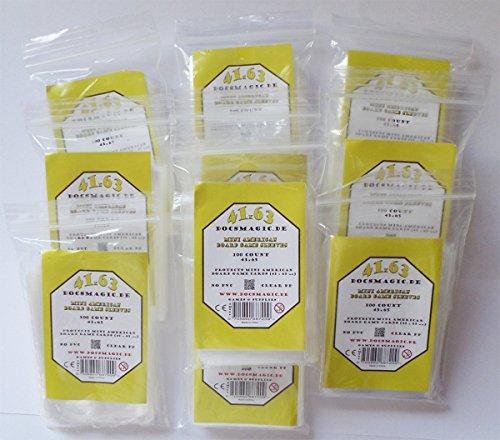 docsmagic.de 1.000 Mini American Board Game Sleeves - 10 Packs - 41 x 63 - Small US - 43 x 65