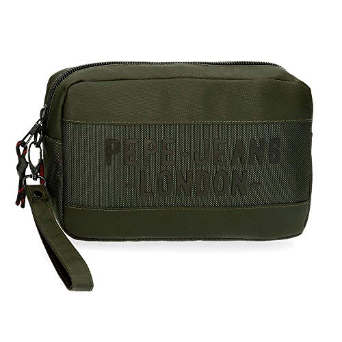 Pepe Jeans Bromley Bolso de Mano Verde 24,5x15x6 cms Poliéster