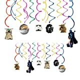 30 pc Party Swirl Decoration for Star wars, Galaxy wars Theme Hanging Swirl Ceiling Decoration Ribbon Party Supplies