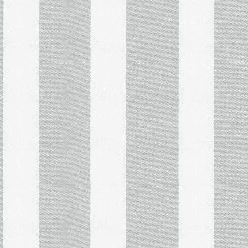NOVELY® Aragon Duo Lloret | Premium Outdoor Stoff | 100% dralon® | Baumwoll-Optik | lichtecht | UV+ beständig 1 lfm (06 Grau)