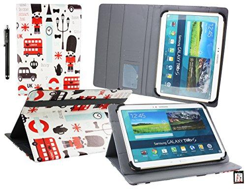 Emartbuy® bq Tesla W8 Tablet Universalbereich (10-11 Zoll) Spielzeug Stadt Multi Angle Exekutiv Folio Mappen Kasten Abdeckung mit Kartensteckplätze + Eingabestift