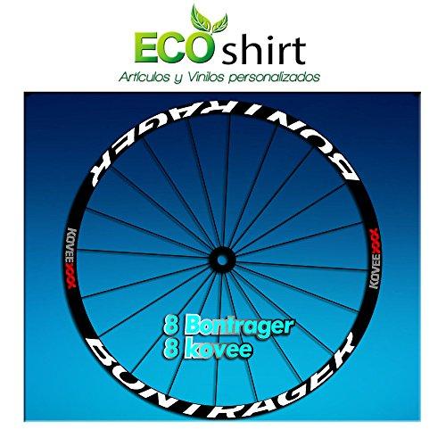 Ecoshirt M0-9X45-DDBI Pegatinas Stickers Bontrager Kovee XXX Am207 Wheel Aufkleber Llanta Rim, Blanco