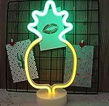 fczka Moda LED Luz de neón Luz Fiesta Navidad Navidad Romántica Boda Decoración Niños Habitación Decoración para el hogar Luna Unicornio Corazón-A
