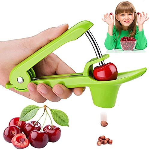Cherry Pitter Olive Pitter Tool, Cherry Pitter Remover, Fruit Pit Core Remover with Space-Saving Lock Design for Make Fresh Cherry Dishes, Cherry Pie and Jam and Cocktail Cherries