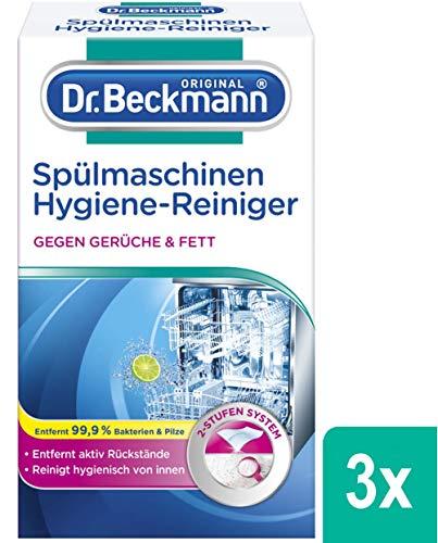 Dr. Beckmann Spülmaschinen Hygiene-Reiniger  (3x 75 g) entfernt Rückstände, Fett und unangenehme Gerüche inkl. Spezial-Reinigungs-Tuch