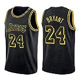 Jersey Baloncesto Kobe Bryant Nº 24 Jersey, Camiseta De Los Lakers Sudadera Camiseta del Verano Apretado Bordado Tamaño Estándar S-XXL (Color : D, Size : L)