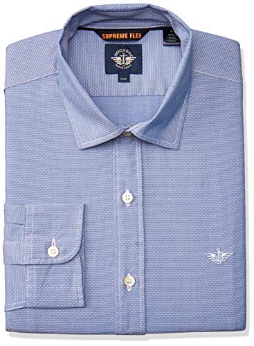 dockers 28836-0121 Camisa Casual para Hombre, Color Enos Refined Shirting Delft, Talla L