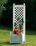 Dominik Blumen und Pflanzen, Kunststoff-und Holzverarbeitungswerk GmbH 37201 Spalier 43 x 43 x 140 cm, mit Pflanzkasten, weiß