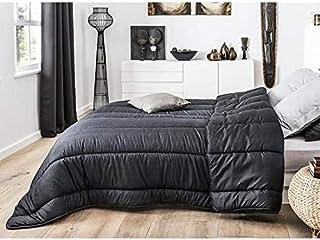 J&K Markets Couette Crocodile Noire, 240x260cm, 2 Personnes, 550gr/m², 100% Microfibre - Qualité supérieure - Chaude