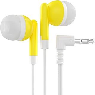 Maeline Bulkhörlurar med 3,5 mm hörlursuttag – 40-pack – gul