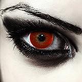 Lenti a contatto rosso, senza diottrie Utilizzabile per 3 messi, alto contenuto di acqua per un buon comfort Due rosse lenti colorate per halloween vampiro costume Contenuto di acqua del 38% Diametro (DIA): 14,50 mm Curva Base (BC): 8.60 mm